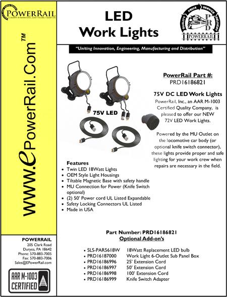 75V LED Work Lights