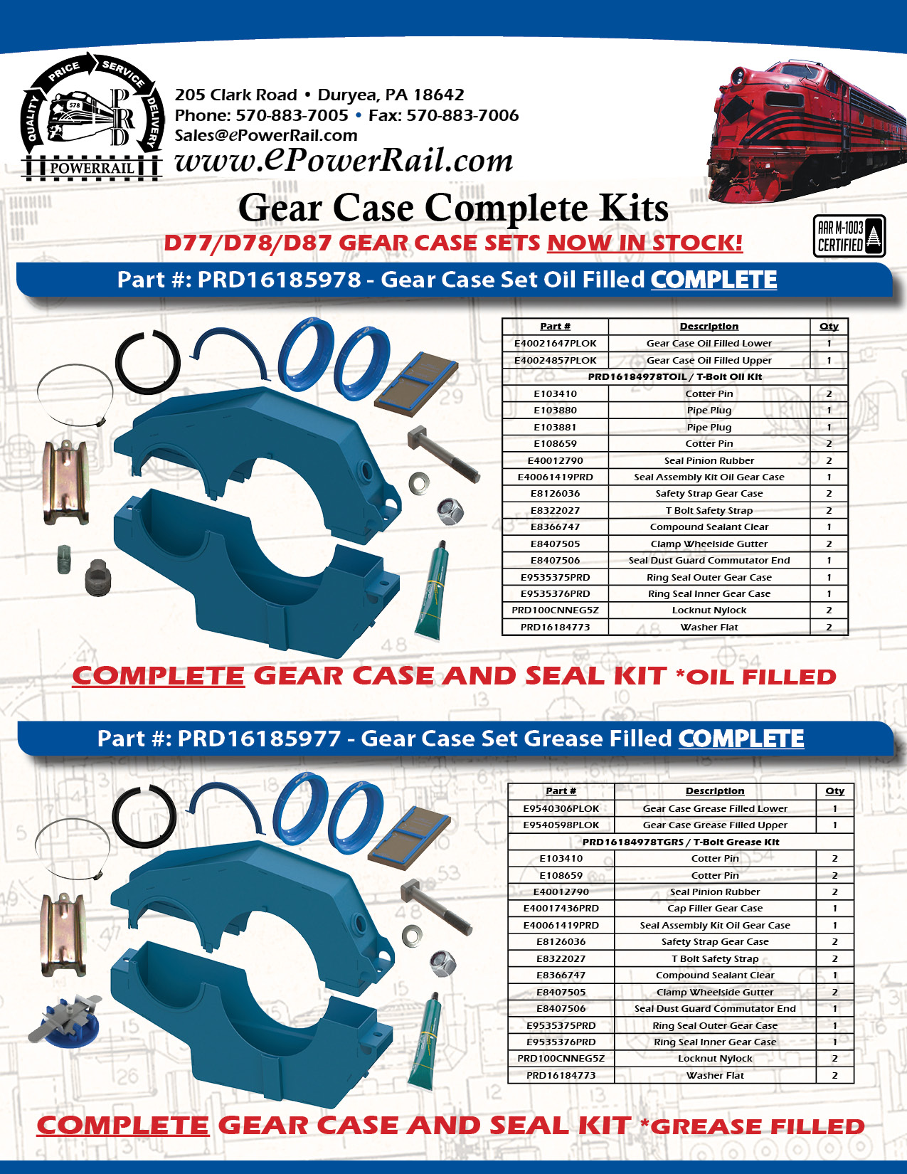 PowerRail's PowerLok Gear Case Kits and Install Kits