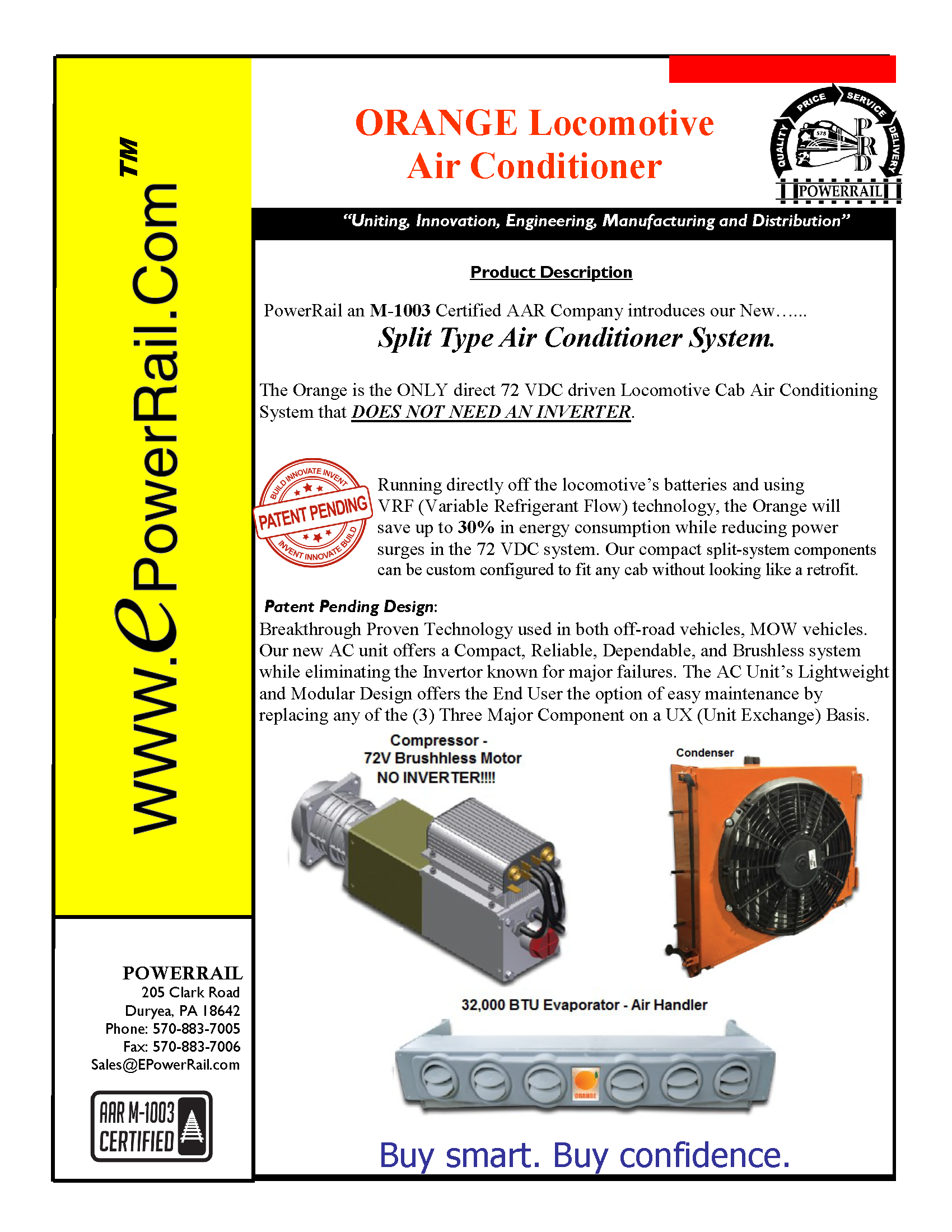ORANGE Locomotive Air Conditioner