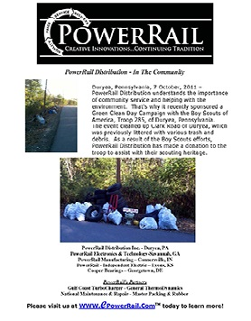 PowerRail Distribution - Boy Scout Cleanup