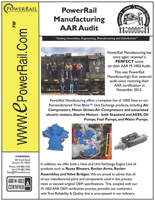 PowerRail Manufacturing AAR Audit 2016