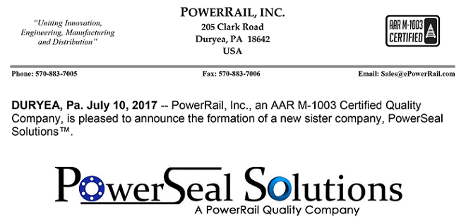 PowerRail Unveils PowerSeal Solutions