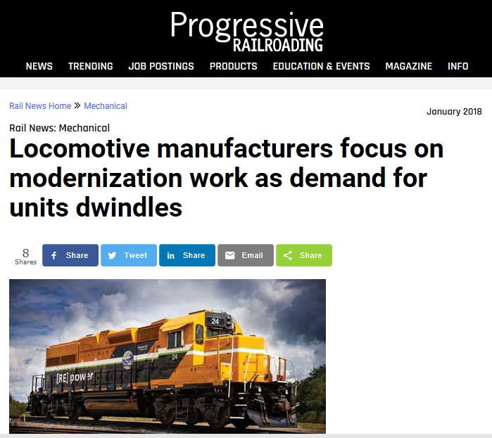 PowerRail's Views on Modernization of Locomotives