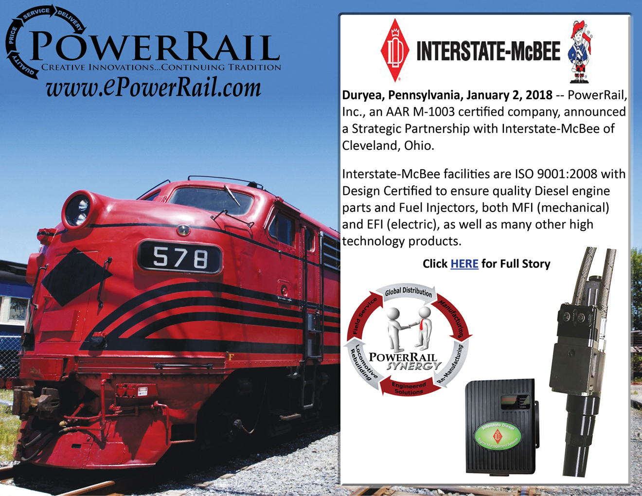 PowerRail, Inc. Announces New Partnership