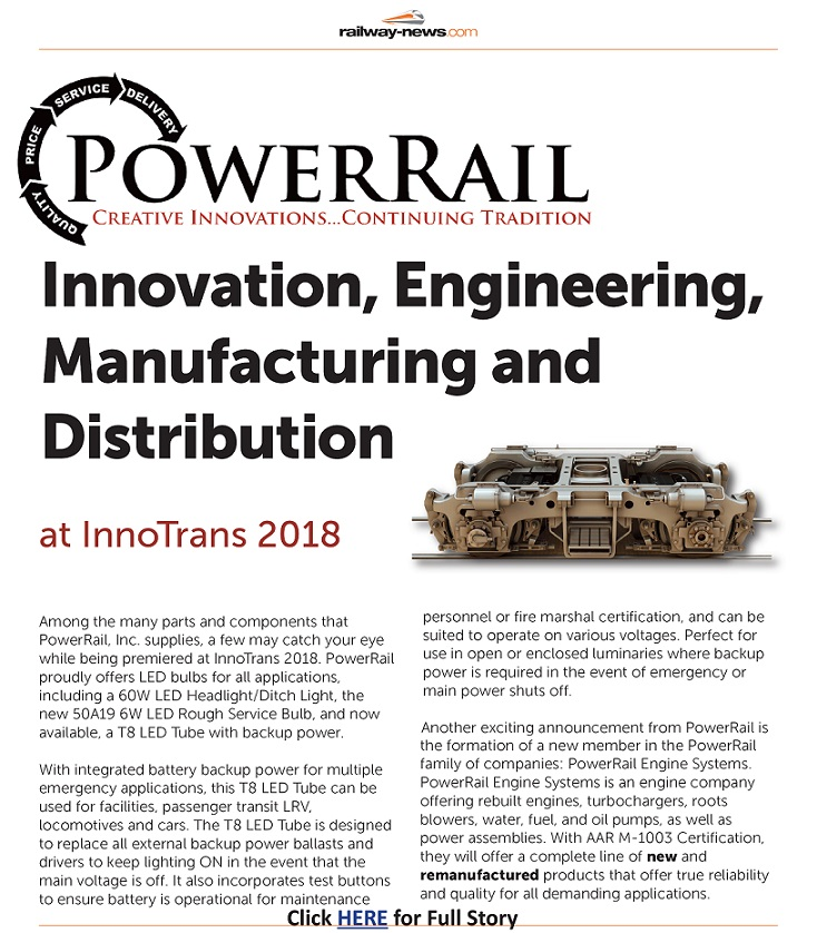 PowerRail Featured in Railway News Magazine
