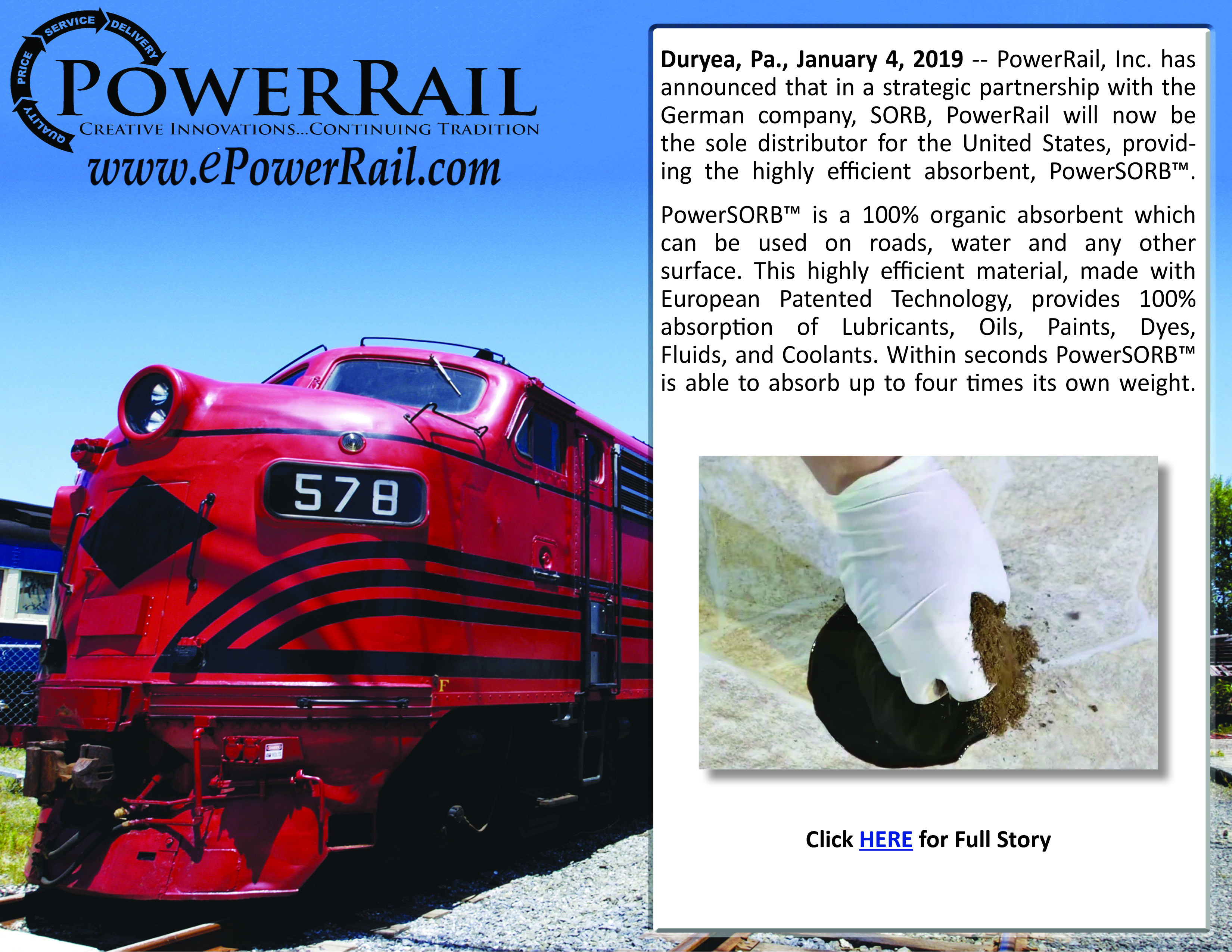 PowerRail Announces New Product Offering
