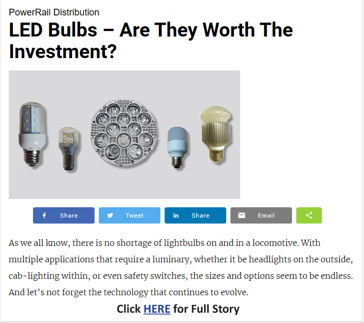 LED Bulbs - as seen in Progressive Railroading