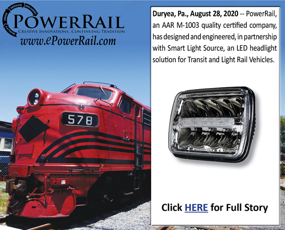 PowerRail Designs new LED Headlight for Transit and LRV